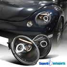 For 1998-2005 VW Beetle Halo Projector Headlights Black SpecD Tuning