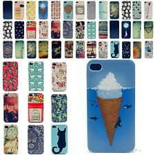Cute Design Pattern Various Back Case Cover For Apple iPhone 4 4G 4S Hard New