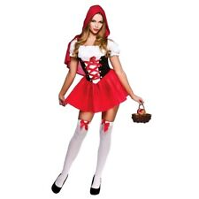 Adult LITTLE RED RIDING HOOD Fancy Dress Ladies Sexy Costume UK Size 6-20