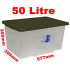 50L 50 Litre Large Size Plastic Clear Storage Box Set Container with Lid Value