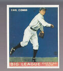 EARL COMBS 1983 REPRINT OF 1933 GOUDEY CARD by RENATA GALASSO #103