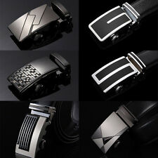 Men's Automatic Buckle Business Waistband Casual Luxury Genuine Leather Belt NEW
