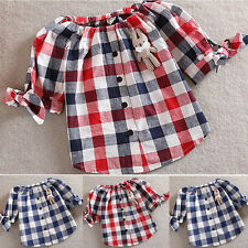 Baby Girl Summer Half Sleeve Tops Blouse T-Shirts Clothes Kid Top Shirt Age 1-6Y