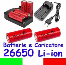 Batterie o Caricabatterie Li-Ion 3,7V Formato 26650 Batteries and Charger 18650