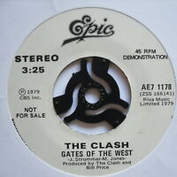 """CLASH - Gates Of The West / Groovy Times - PROMO - Ex 7"""" Single Epic AE7 1178"""