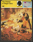 THE ORDEAL OF HUGH GLASS Grizzly Bear Attack 1980 STORY OF AMERICA CARD