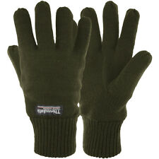 Highlander Drayton Thins Lined Gloves Warm Mens Winter Hiking Thermo Glove Olive