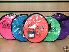NEW Shires Soft Feel Lunge Line / Nylon Web Lunge Rein - BRIGHT COLOURS - 8m