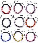 New Hot!! 10MM Crystal Clay Disco (9pcs)Ball Bracelet Braid Chain Hematite Beads