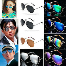 Unisex Women Men Vintage Retro Aviator Mirror Lens Designer Sunglasses Glasses