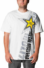 MSR Mens Metal Mulisha Rockstar Ego T-Shirt White LARGE 350206