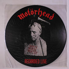 MOTORHEAD: What's Words Worth? - Recorded Live LP (Germany, pic disc, PVC sleev