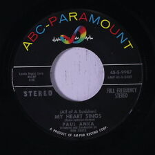 PAUL ANKA: My Heart Sings / That's Love 45 (Stereo issue) Oldies