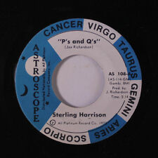 STERLING HARRISON: P's And Q's / Love True Love 45 Soul