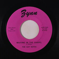 GAY NOTES: Waiting In The Chapel  Plea Of Love 45 (2nd press) Vocal Groups