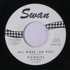 GABRIEL & ANGELS: All Work, No Play / The Peanut Butter Song 45 (dj) Vocal Grou