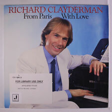 RICHARD CLAYDERMAN: From Paris With Love LP (promo stamp obc, library toc) Easy