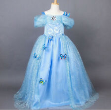 2015 New Dress Cinderella Princess Costume Kids Party Girls Cosplay Gown Fancy