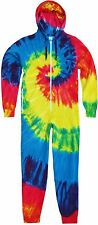 Colortone Kids & Schoolwear Cotton Front Zip Jumpsuit Rainbow Tie-Die Onesie