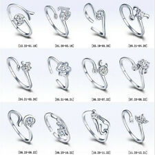 Silver Plated Zodiac Star Signs 12 Constellations Shaped Adjustable Opening Ring