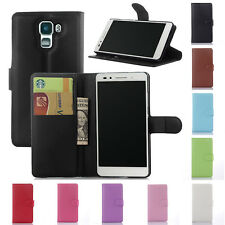 Flip Leather Wallet Case Cover Pouch For Huawei Honor 7 & Screen Protector