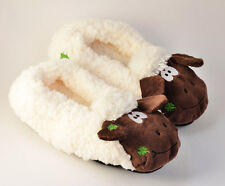 2015 Winter Women Men Fleece Warm Sheep Animal Soft Indoor Home Slippers Shoes