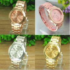 New Unisex dial Stainless Steel Quartz watch Czech Crystal GENEVA Wristwatch