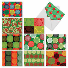 M2272 African Circles: 10 Assorted Christmas Note Cards w/White Envelopes.