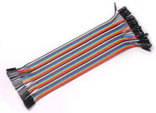 40PCS Dupont Wire Color Jumper Cable 2.54mm 1P-1P Male to Female 20cm  F5