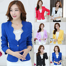 Fashion Women's One Button Slim Casual Business Blazer Suit Jacket Coat Outwear