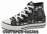 KID Boy Girl CONVERSE All Star BLACK LEATHER MID HI TOP Boots Trainer SIZE UK 12