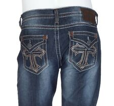 Archaic AFFLICTION Mens Denim Jeans CARDINAL CROSS Embroidered BKE 30-40 $79