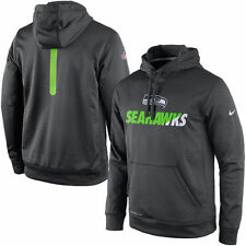 Men's Nike Charcoal Seattle Seahawks Sideline Fleece Therma-FIT Pullover Hoodie