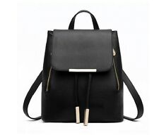 Women Black School bags Backpack New Shoulder Bag Rucksack Leather Travel bag
