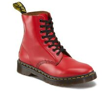 BRAND NEW GENUINE UNISEX DR MARTENS PASCAL RED VINTAGE LEATHER 8 eye BOOTS
