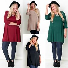 UMGEE Plus Size FLATTER FIT Casual Knit Swing Tunic Top Super Stretch! XL 1X 2X