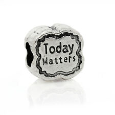 Today Matters European Charm Bead Inspirational Quote Life Motivation Saying