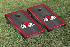 Gardner Webb University Bulldogs Cornhole Game Set Onyx Stained Border Version