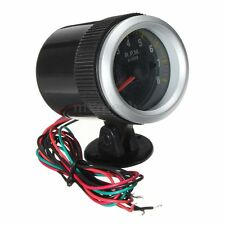 Carbon Fiber Face 2'' 52mm Rev Tacho Gauge Meter Tachometer 0-8000 RPM LED Show