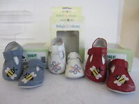 Start Rite Baby Shoes 3, 6 or 9 Months Red Bumble White Flutter Blue Bumble (KR)