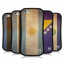 HEAD CASE DESIGNS VINTAGE FLAGS SET 2 HYBRID CASE FOR APPLE & SAMSUNG PHONES