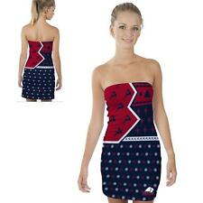 Dixie State Red Storm Womens Tube Dress Christmas Party Reindeer  Design