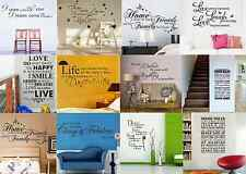 QUOTE WORDS KITCHEN ROOM HOME ART WALL STICKERS WALL MURAL DECOR