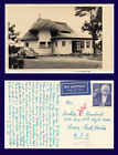 GERMANY MUSHROOM HOUSE WITH VOLKSWAGON REAL PHOTO POSTED 1956