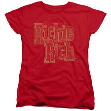 Richie Rich Stacked Womens Short Sleeve Shirt
