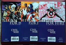 HEROES FOR HIRE #1-3 (2006 MARVEL) CIVIL WAR TIE-IN CAPTAIN AMERICA LUKE CAGE