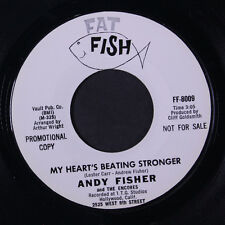 ANDY FISHER: My Heart's Beating Stronger / A Wee Bit Longer 45 (dj) rare Soul
