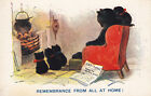 1900s illustrated cat post card titled ( remembrance from home )