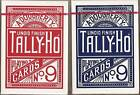 2 DECKS Tally Ho Fan Back playing cards Red & Blue