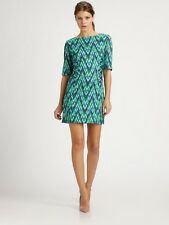 MILLY WOMEN'S CARINA CHEVRON SHEATH PARTY COCKTAIL DRESS $375.00 NEW WITH TAGS 6